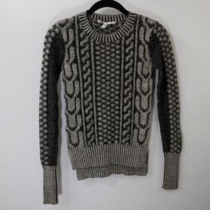 BCBGMaxAzria Charcoal Crewneck Sweater Size XXS